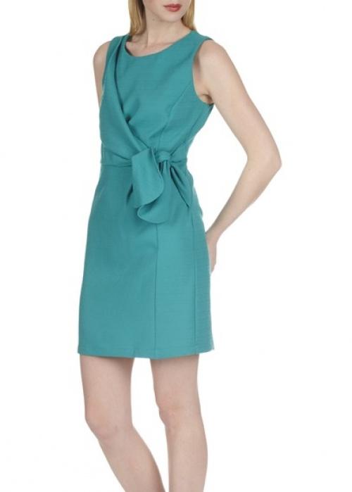 Naf Naf - Robe bleu turquoise noeud