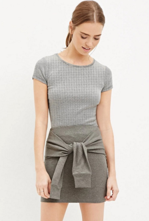 Forever 21 - Jupe sweat nouée