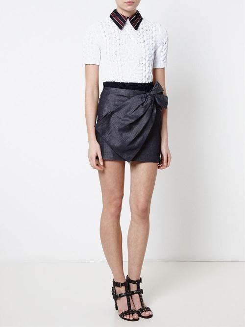 N°21 - Jupe courte jean noeud