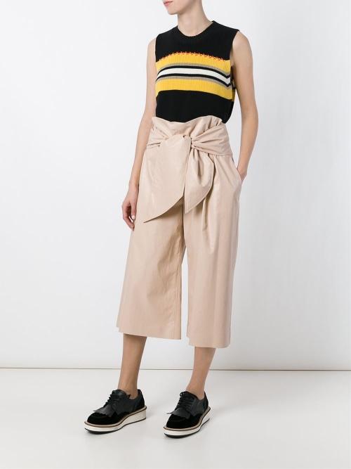 MGSM - Jupe-culotte beige coupe sept huitème