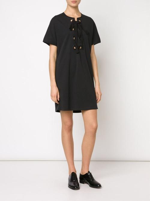 3.1 Philip Lim - Robe noire lacets