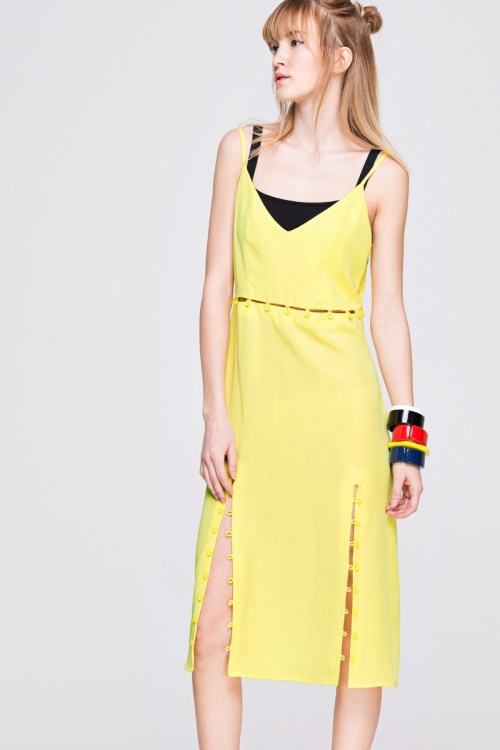 Front Row Shop  robe nuisette jaune