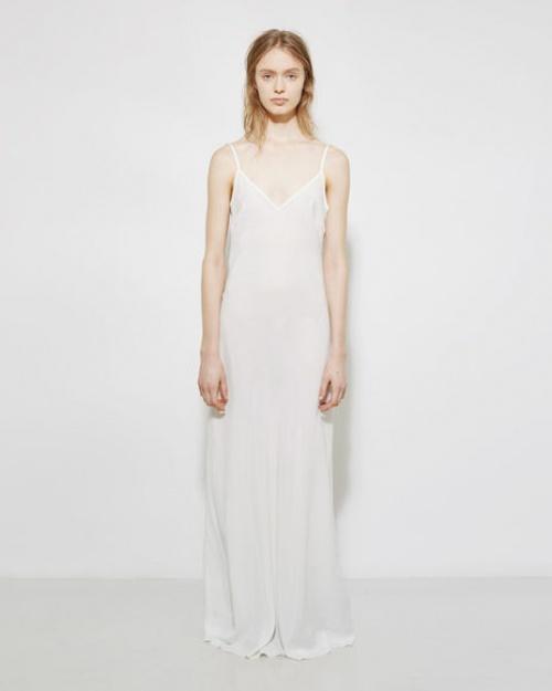 La Garçonne  robe longue dentelle et satin