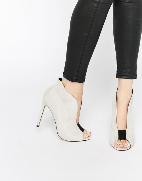 Asos bottines talons blanche ouvertes