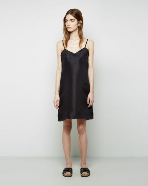 La Garçonne robe satin noire