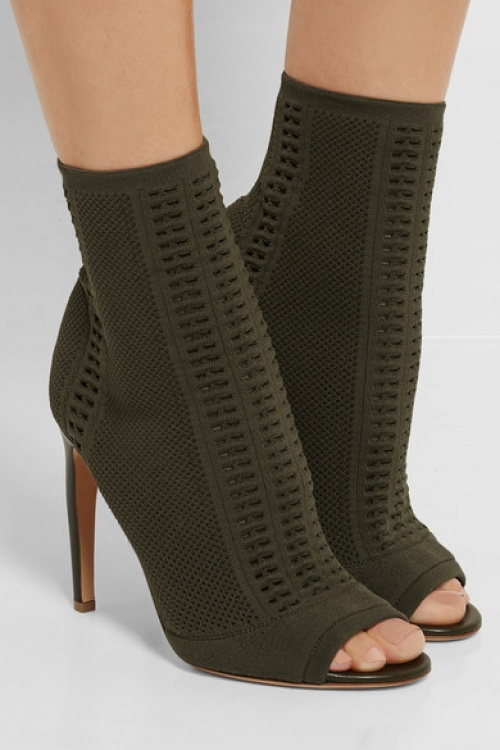 Gianvito Rossi  bottines kaki open tooe