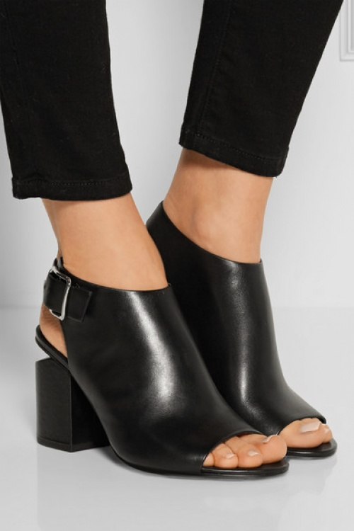 Alexander Wang  bottines noires open tooe