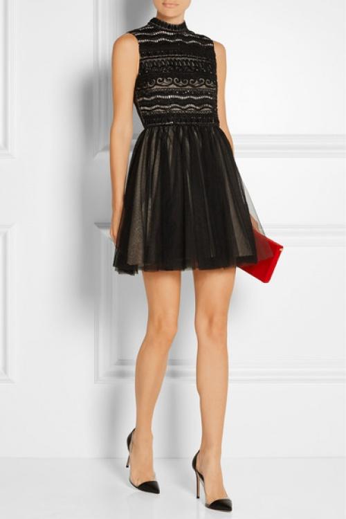 Alice + Olivia  robe noire dentelle