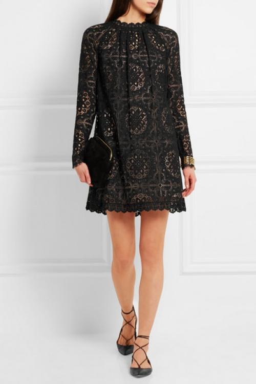 Temperley  london robe noire dentelle
