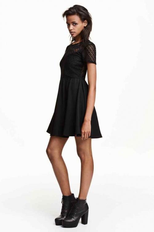 H&M  robe dentelle noire