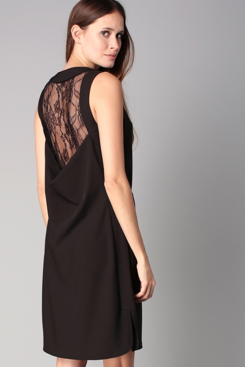 Sinéquanone  robe dentelle noire