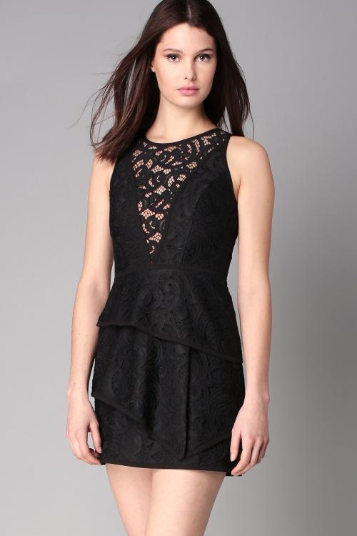 BCBG Maxazria robe dentelle noire