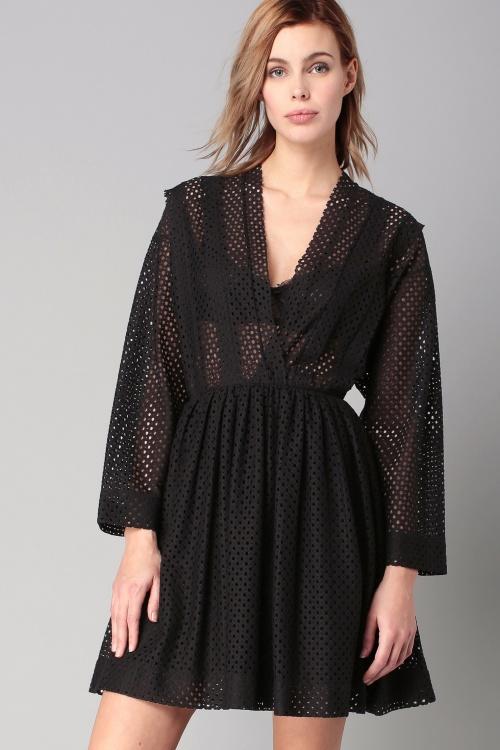 IRO  robe noire dentelle