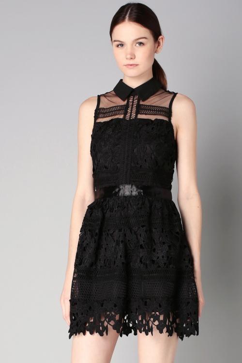 By MonShowroom  robe dentelle noire