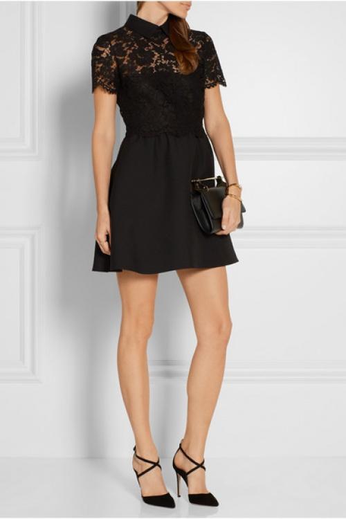 Valentino robe noire dentelle