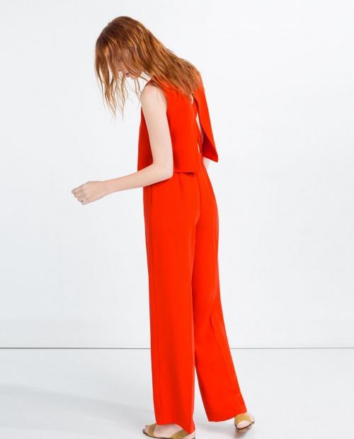 Zara combinaison dos nu rouge
