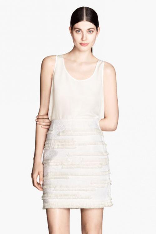 H&M jupe franges