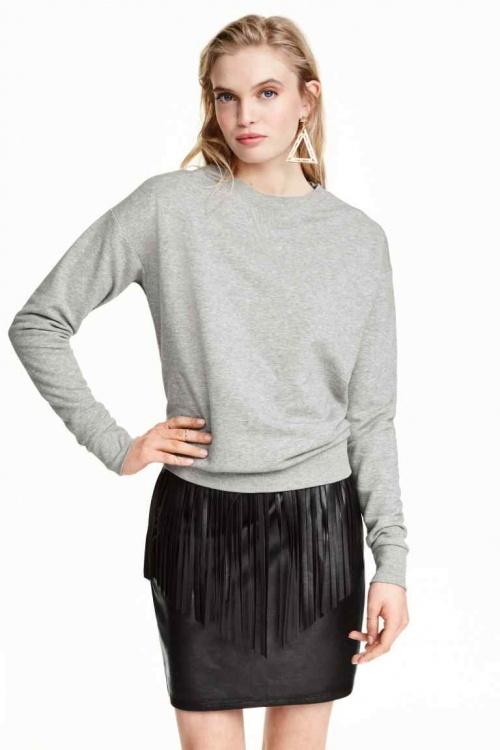 H&M jupe à franges