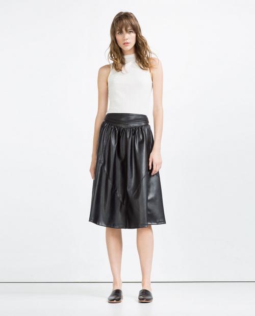 Zara jupe simili cuir