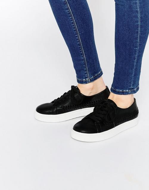 Asos baskets noires à semelles blanches