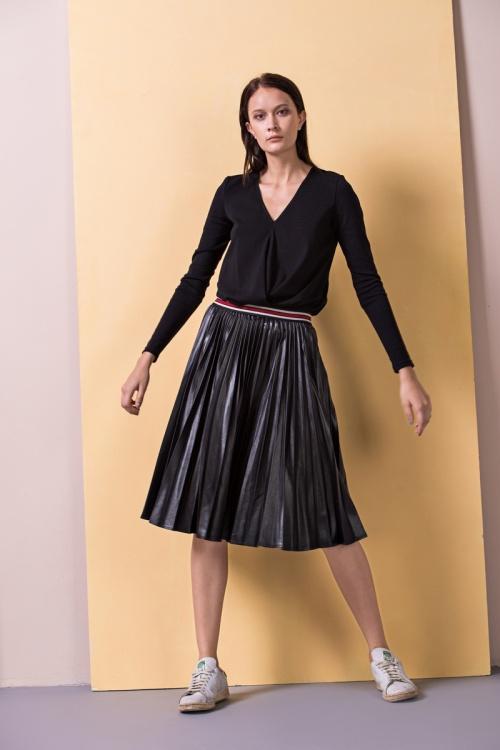 Front Row Shop jupe plissée façon sportswear