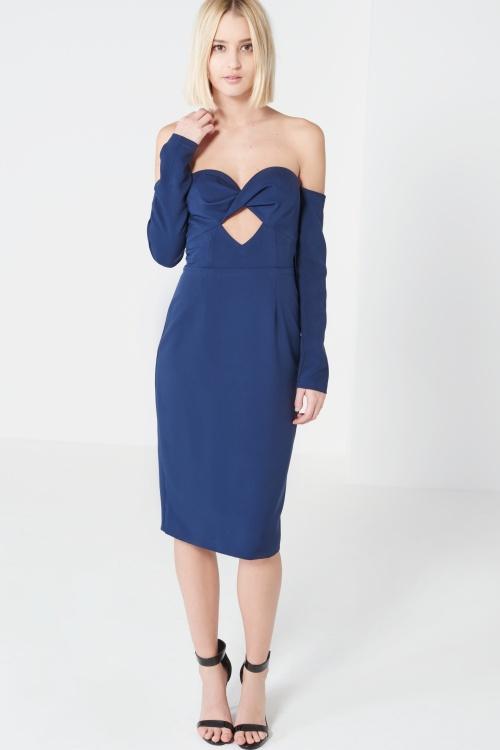 Lavish Alice - Robe bustier bleue ajourée