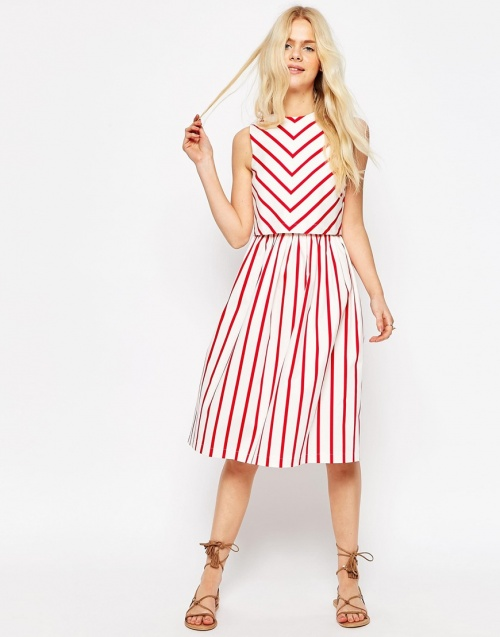 Asos Robe rayures rouges