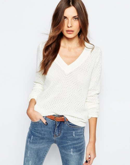 Vila - pull blanc