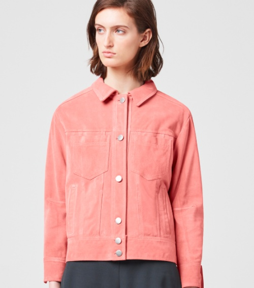 veste en jean the arrivals rose