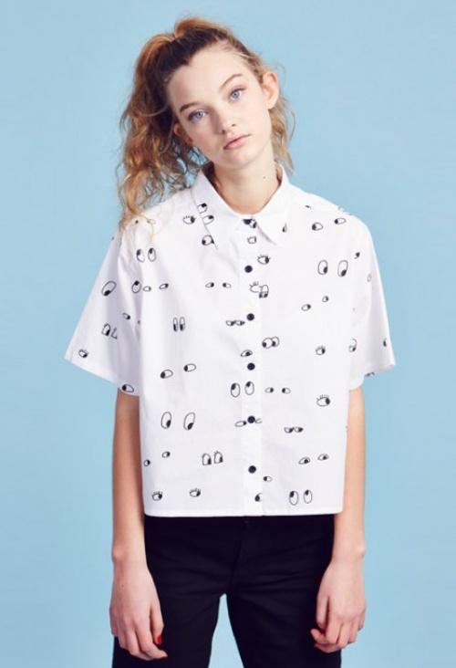 Lazy Oaf - chemise motif oeil