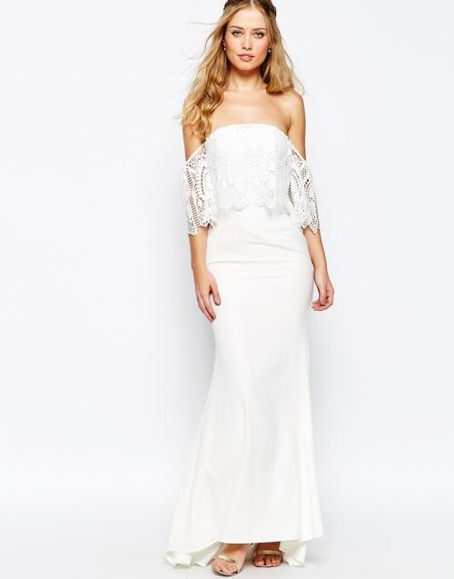 Jarlo - Robe blanche longue