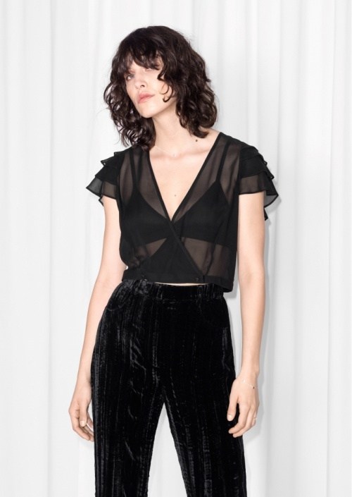 & Other Stories x Rodarte crop top transparent
