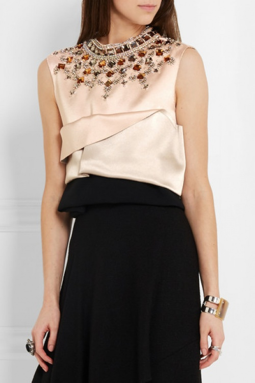 Marni cropped top brodé