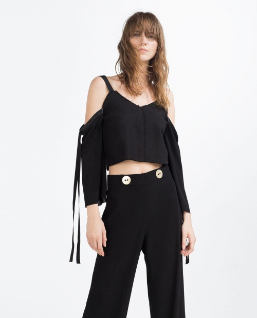 Zara crop top ajouré
