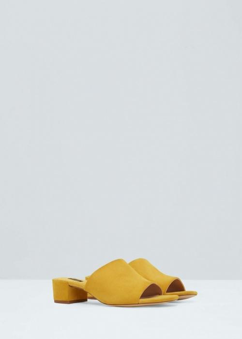 Mango  mules jaunes basses