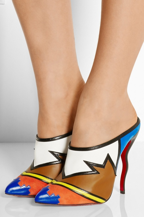 Christian Louboutin  mules multicolores