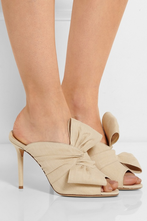 Charlotte Olympia mules noeuds tissus