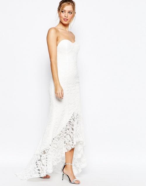 Jarlo - Robe  de mariée asymétrique dentelle