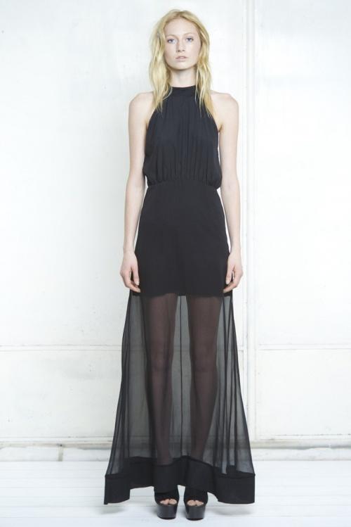 Shakuhachi  robe longue transparente