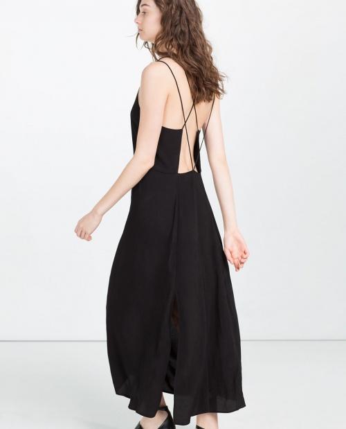 Zara robe dos ouvert longue noire