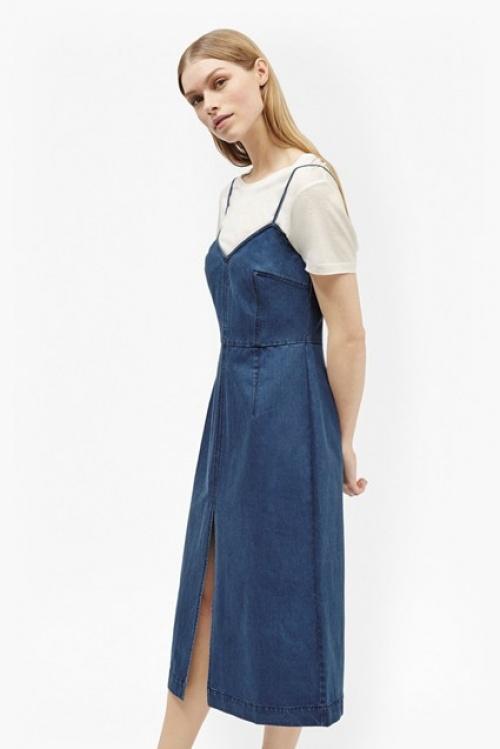 French Connection robe débardeur en jean