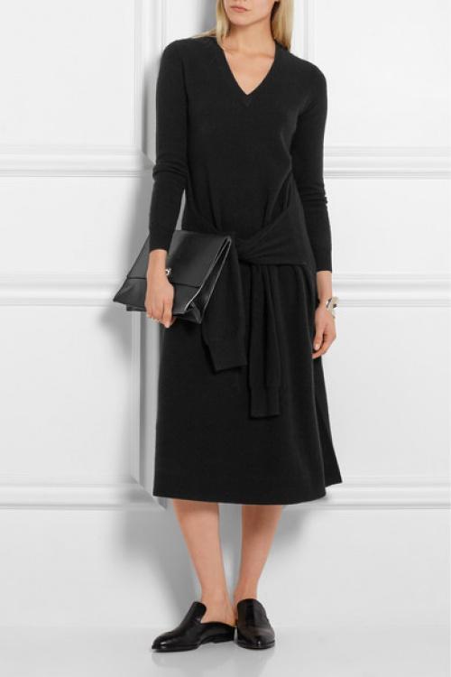 Joseph  robe longue noire à noeud