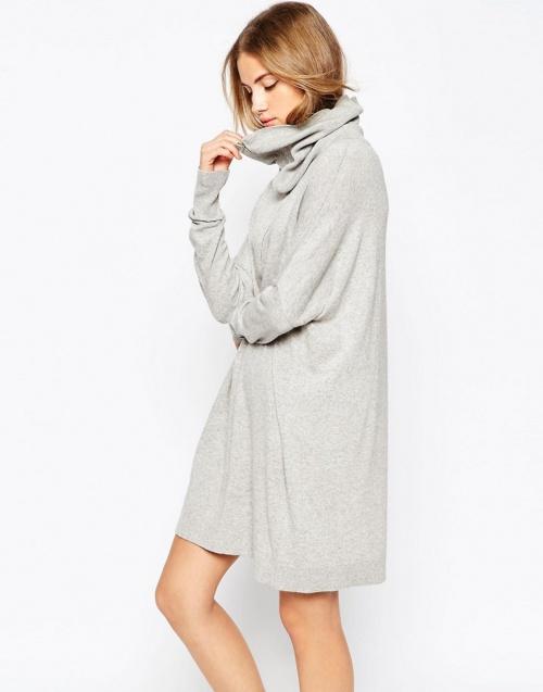 asos robe pull grise