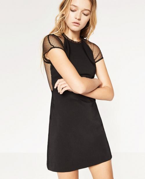 Zara robe dos transparent