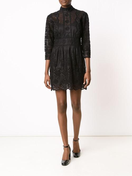 Marc Jacobs robe noire brodée