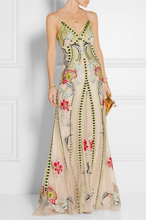 Temperley London  robe longue brodée