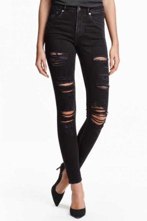 jean h&m loves coachella jean noir troué