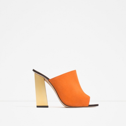 Zara mules talon or