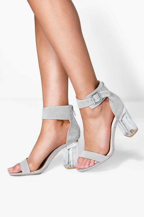 Boohoo sandale talon transparents