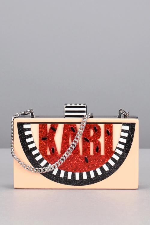 Karl Lagerfeld minaudière karl pastèque